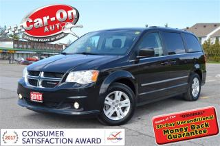 Used 2017 Dodge Grand Caravan Crew Plus LEATHER REAR CAM FULL PWR GRP LOADED for sale in Ottawa, ON