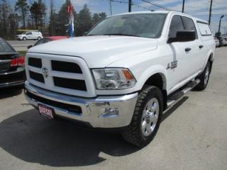 Used 2016 Dodge Ram 2500 READY TO WORK SLT MODEL 6 PASSENGER 6.7L - CUMMINS.. 4X4.. CREW.. SHORTY.. BED-SLIDE-1000.. BACK-UP CAMERA.. BLUETOOTH SYSTEM.. BULLY-DOG GAUGE.. for sale in Bradford, ON