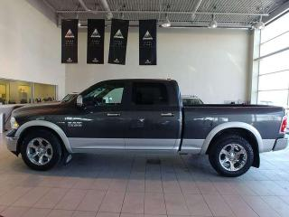 Used 2017 RAM 1500 Laramie - Heated Leather, Heated Wheel, B/U Cam + Remote Start! for sale in Red Deer, AB