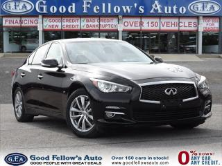 Used 2014 Infiniti Q50 PREMIUM PACKAGE, LEATHER SEATS, SUNROOF, NAVI for sale in North York, ON