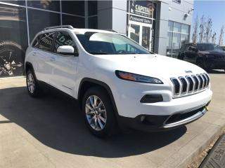 Used 2016 Jeep Cherokee Limited Leather Remote Start  4X4  Navigation  for sale in Edmonton, AB