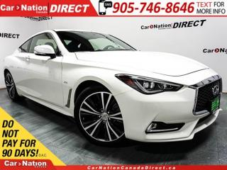Used 2017 Infiniti Q60 2.0T| AWD| LOW KM'S| SUNROOF| for sale in Burlington, ON