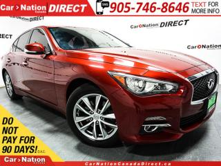 Used 2014 Infiniti Q50 Premium| AWD| NAVI| SUNROOF| LOW KM'S| for sale in Burlington, ON