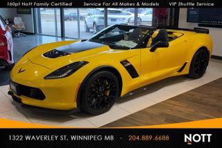 Used 2017 Chevrolet Corvette Z06 2LZ Convertible 27KM Carbo for sale in Winnipeg, MB
