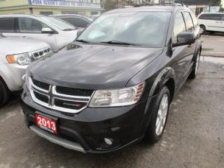 Used 2013 Dodge Journey LOADED CREW EDITION 7 PASSENGER 3.6L - V6.. BENCH & 3RD ROW.. HEATED SEATS.. HEATED STEERING WHEEL.. BLUETOOTH.. POWER SUNROOF.. for sale in Bradford, ON