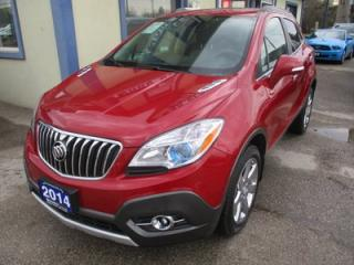 Used 2014 Buick Encore LOADED ALL WHEEL DRIVE 5 PASSENGER 1.4L - TURBO.. LEATHER.. HEATED SEATS.. BOSE AUDIO.. BACK-UP CAMERA.. POWER SUNROOF.. for sale in Bradford, ON