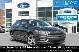 Used 2017 Ford Fusion SE AWD - CPO - LEATHER - BLUETOOTH - HEATED FRONT SEATS - MOONROOF - NAV for sale in Ottawa, ON