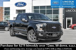 Used 2015 Ford F-150 XLT SUPERCREW 5.5' BED 4WD - BLUETOOTH - REAR  CAMERA - REVERSE SENSING - REMOTE START - TRAILER TOW for sale in Ottawa, ON