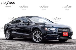 Used 2013 Audi A5 Premium Plus Sunroof Nav Blind Zone Rear Cam for sale in Thornhill, ON