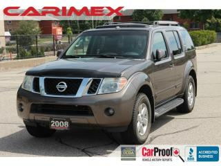 Used 2008 Nissan Pathfinder SE 7 Passenger | Sunroof | Leather | CERTIFEID for sale in Waterloo, ON