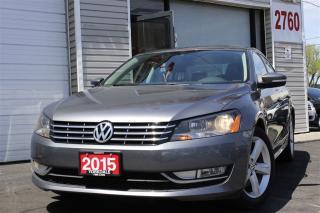 Used 2015 Volkswagen Passat 2.0 TDI Comfortline+ Leather. Roof, Camera. Clean for sale in Toronto, ON