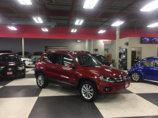 Used 2014 Volkswagen Tiguan 2.0 TSI COMFORTLINE AUT0 LEATHER PANO/ROOF 44K for sale in North York, ON