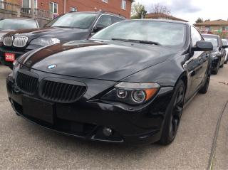 Used 2004 BMW 6 Series 645Ci/Low KMs 102K/Nav/Paddle-Shifter/Must See! for sale in Scarborough, ON