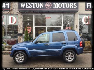 Used 2003 Jeep Liberty LMTED*4X4*LEATHER*SUNROOF*CHROMEPKG*CERT&ETESTED* for sale in York, ON
