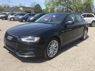 Used 2015 Audi A4 TFSI * AWD * LEATHER * HEATED SEATS * MOONROOF * LOW KM for sale in London, ON