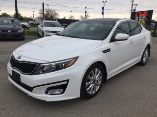Used 2015 Kia OPTIMA EX * LEATHER * REAR CAM * PANO SUNROOF * HEATED SEATS * BLUETOOTH for sale in London, ON
