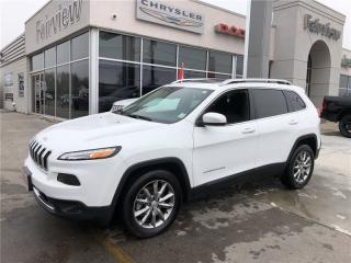 Used 2017 Jeep Cherokee Limited.Pan Roof/Leather/Navi for sale in Burlington, ON