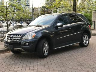 Used 2010 Mercedes-Benz ML-Class DIESEL,BLUETEC,LOCAL,NO ACCIDENT, for sale in Vancouver, BC