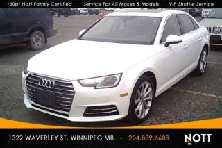 Used 2017 Audi A4 2.0T Progressiv Quattro Nav Mo for sale in Winnipeg, MB