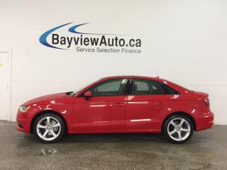Used 2016 Audi A3 2.0T Komfort - TURBO! SUNROOF! HTD LTHR! BLUETOOTH! CRUISE! for sale in Belleville, ON