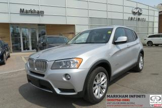 Used 2013 BMW X3 xDrive28i Backup Camera, Parking sensors, Pano Roof for sale in Unionville, ON
