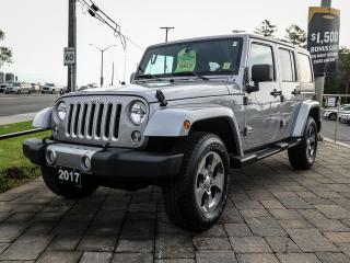 Used 2017 Jeep Wrangler SAHARA UNLIMITED, NAV, AUTO, HARD TOP, REMOTE START for sale in Ottawa, ON
