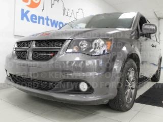 Used 2017 Dodge Grand Caravan GT with power heated leather seats, heated steering wheel, heated 2nd row seats, rear climate control, power sliding doors, power liftgate AND back up cam wrapped into a comfortable and affordable 7-seater van for sale in Edmonton, AB