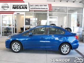 Used 2012 Honda Civic Sedan EX  -  Bluetooth - $110.84 B/W for sale in Mississauga, ON