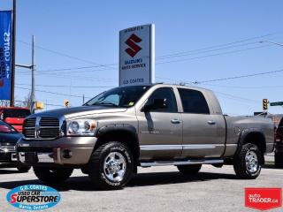 Used 2007 Dodge Ram 1500 Laramie Mega Cab 4x4 ~Nav ~DVD ~Heated Leather for sale in Barrie, ON