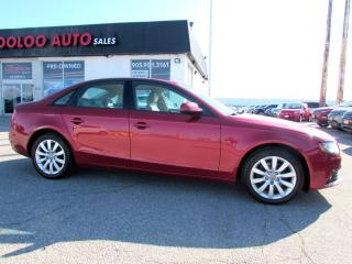 Used 2010 Audi A4 2.0T PREMIUM SEDAN QUATTRO 6 SPD MANUAL CERTIFIED for sale in Milton, ON