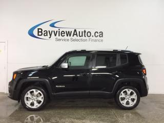 Used 2017 Jeep Renegade Limited - REMOVABLE TOP! REM START! HTD LTHR! NAV! UCONNECT! for sale in Belleville, ON