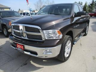 Used 2011 Dodge Ram 1500 WORK READY SLT MODEL 5 PASSENGER 5.7L - HEMI.. 4X4.. QUAD-CAB.. SHORTY.. ALPINE AUDIO.. CD/AUX INPUT.. POWER PEDALS.. BLUETOOTH.. for sale in Bradford, ON