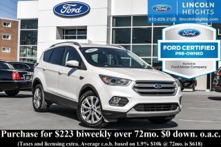 Used 2017 Ford Escape TITANIUM 4WD - CPO for sale in Ottawa, ON