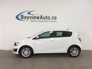 Used 2014 Chevrolet Sonic LT Manual - ALLOYS! SUNROOF! HTD SEATS! ON STAR! CRUISE! for sale in Belleville, ON