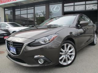 Used 2014 Mazda MAZDA3 GT-SKY-LEATHER-NAVI-CAMERA-BLUE-TOOTH-LOADED for sale in Scarborough, ON