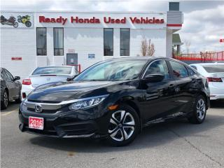 Used 2016 Honda Civic Sedan LX - Rear camera - Bluetooth for sale in Mississauga, ON