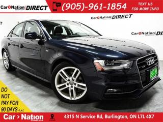 Used 2016 Audi A4 2.0T Technik| AWD| SUNROOF| BLIND SPOT DETECTION| for sale in Burlington, ON