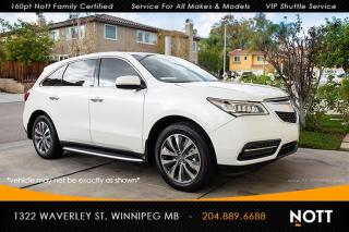 Used 2016 Acura MDX Tech PKG Navi DVD Heated/Coole for sale in Winnipeg, MB