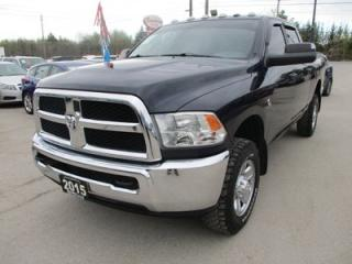 Used 2015 Dodge Ram 2500 WORK READY SLT MODEL 6 PASSENGER 6.7L - CUMMINS.. 4X4.. CREW.. SHORTY.. TRAILER BRAKE.. AUX/USB INPUT.. KEYLESS ENTRY.. for sale in Bradford, ON