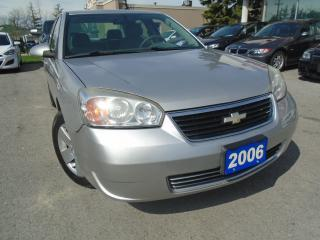 Used 2006 Chevrolet Malibu LT NO ACCIDENTS , LOW KM, 4 NEW TIRES SAFETY INC for sale in Oakville, ON