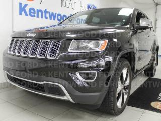 Used 2014 Jeep Grand Cherokee Limited 4x4 with heated power leather seats, heated steering wheel, heated rear leather seats, terrain control, and a power liftgate for sale in Edmonton, AB