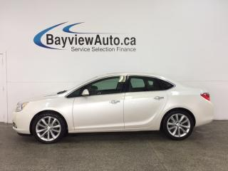 Used 2014 Buick Verano Leather Package - REM START! ALLOYS! SUNROOF! HTD LTHR! NAV! BOSE! for sale in Belleville, ON