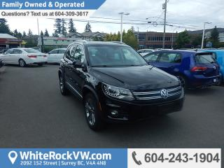 Used 2017 Volkswagen Tiguan Highline Navigation, Leather Upholstery & Radio Data System for sale in Surrey, BC