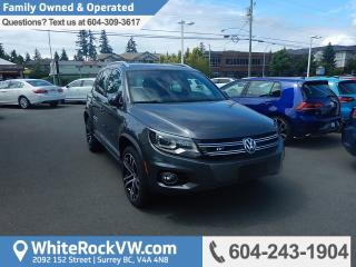 Used 2017 Volkswagen Tiguan Highline R-Line, Memory Seat, Radio Data System, Leather Upholstery & Heated Front Seats for sale in Surrey, BC
