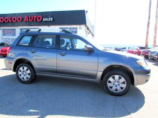 Used 2005 Mitsubishi Outlander LS 2WD AUTOMATIC CERTIFIED 2YR WARRANTY for sale in Milton, ON
