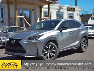 Used 2016 Lexus NX 200t F Sport 3 HUD H.SEATS PERFORATED LEATHER for sale in Ottawa, ON