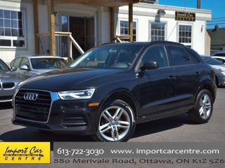 Used 2016 Audi Q3 Komfort PANO ROOF H.SEAT ALLOYS for sale in Ottawa, ON