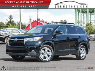 Used 2016 Toyota Highlander HYBRID Limited AWD for sale in Stittsville, ON