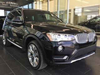 Used 2017 BMW X3 xDrive28i AWD, NAVI, ACCIDENT FREE for sale in Edmonton, AB