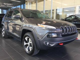 Used 2017 Jeep Cherokee TRAILHAWK, V6, LEATHER, PANO-ROOF, NAVI for sale in Edmonton, AB